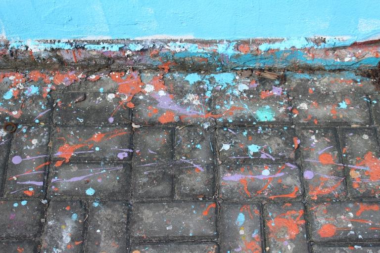 Paint spatterings on Moganshan Road
