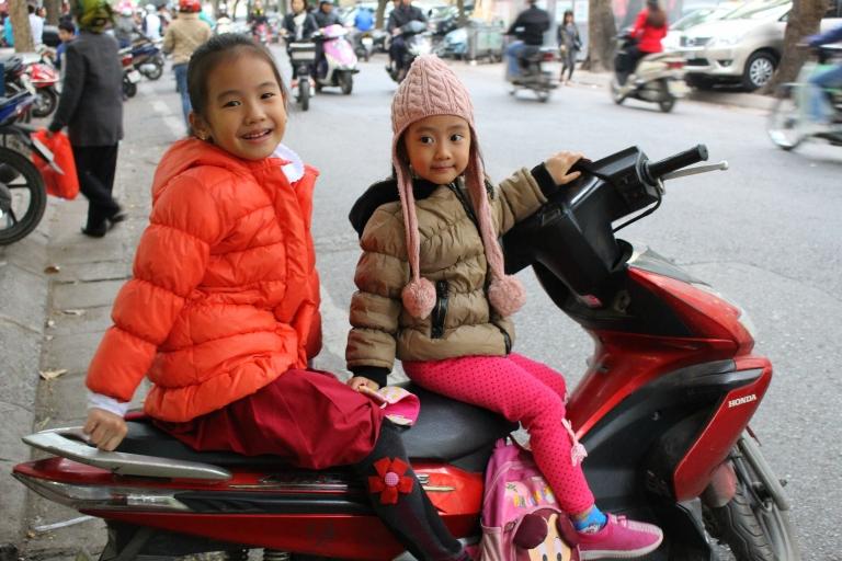 School's out. Rush hour. Hanoi, Vietnam