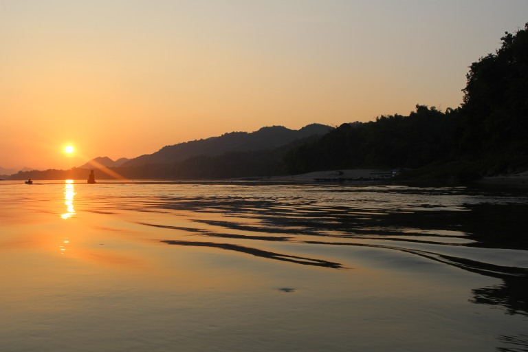 Sunset from a boat trip, Luang Prabang