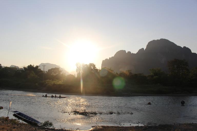 Mekong River nearing sunset