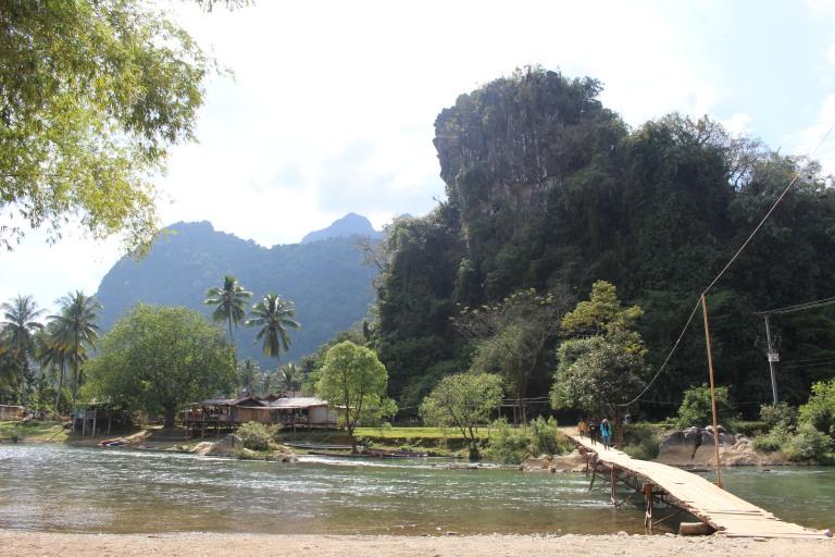 Kayaking route in Vang Vieng
