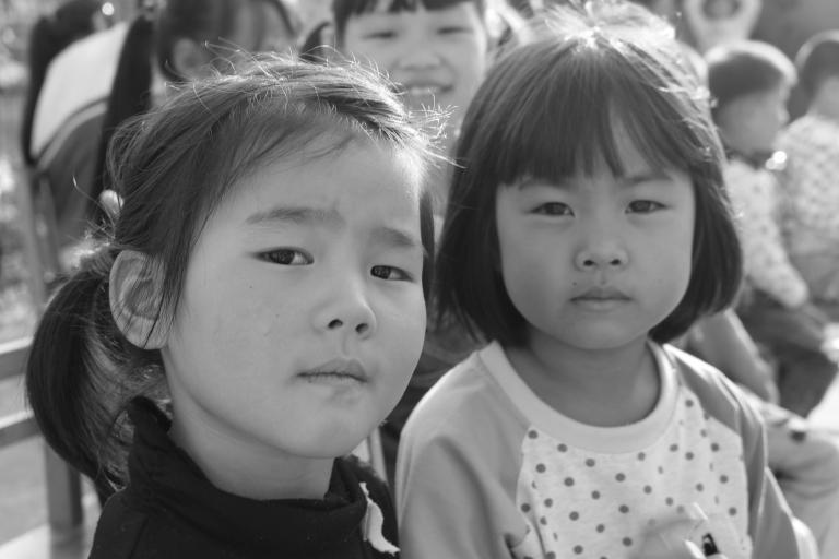 Unimpressed school kids. Shanghai, China