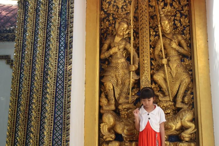 Bored of posing by the Golden Palace. Bangkok, Thailand
