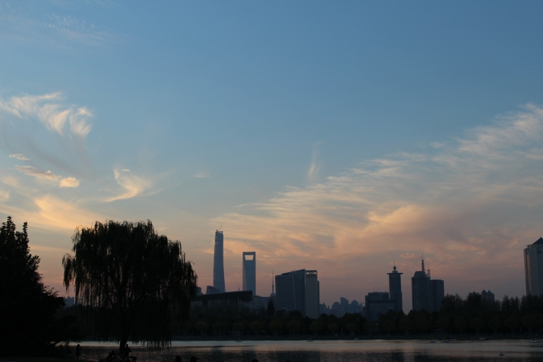 Shanghai skyline, taken from Century Park, China